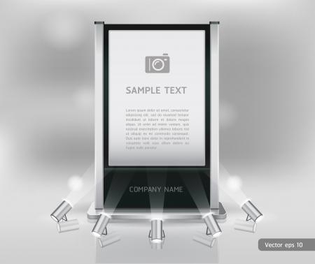 Vakbeurs staan display Vector
