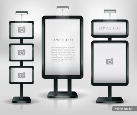 Trade exhibition stand display. Vector. Vector Illustration