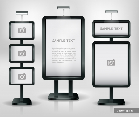 exhibitions: Trade exhibition stand display. Vector.