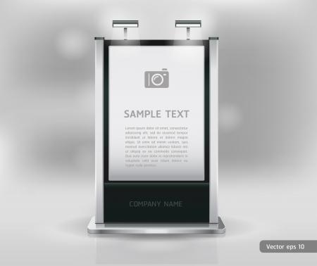 pop up: Vakbeurs staan display. Vector. Stock Illustratie