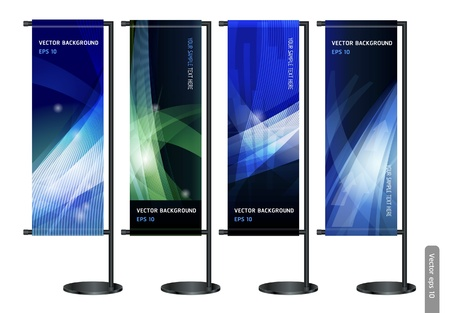 exhibition: Trade exhibition stand display with Abstract background. Vector illustration.