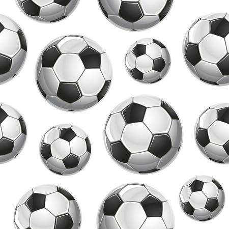 balon soccer: Soccer Balls Seamless pattern. Ilustración vectorial