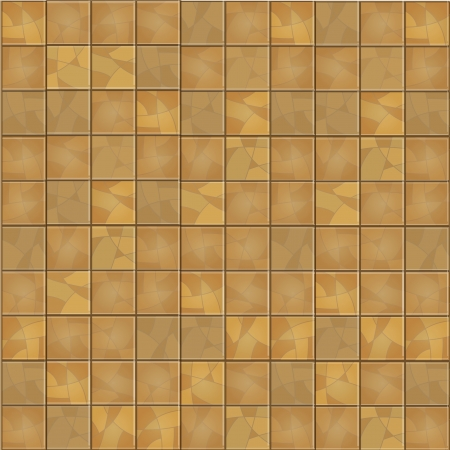grout: Brown floor tiles background. Vector illustration.