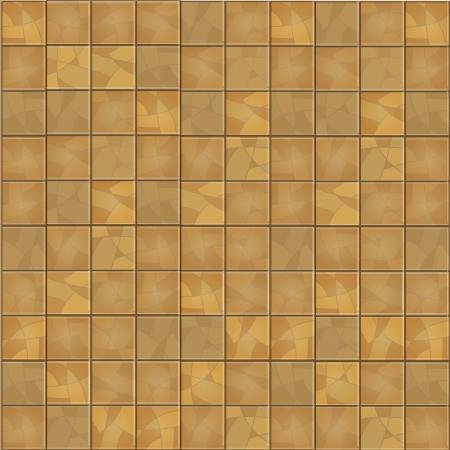 Brown floor tiles background. Vector illustration. Stock Vector - 18759189