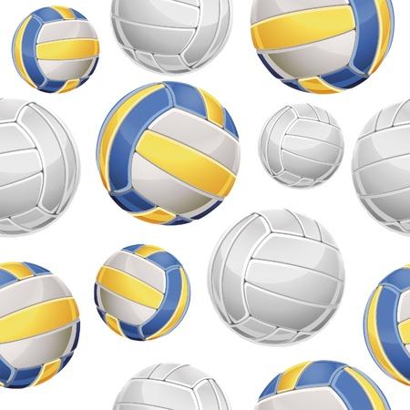 Naadloze: Volley Ballen Naadloze patroon. Vector illustratie Stock Illustratie