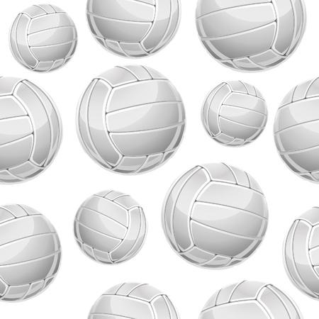 Naadloze: Volley Balls Naadloze patroon. Vector illustratie Stock Illustratie