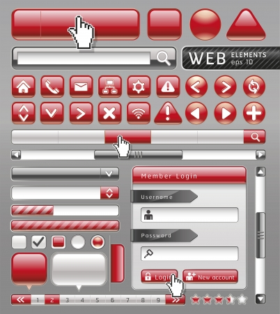 Blank buttons for website and app. Vector illustration Vector