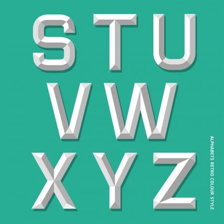 Alphabet modern colour style illustration Stock Vector - 18914602