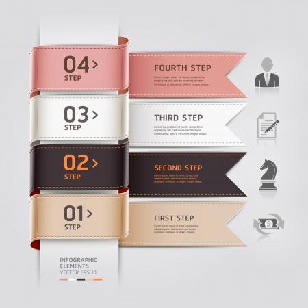 pesta�as: Resumen de negocios plantilla infograf�a cinta estilo de ilustraci�n vectorial se puede utilizar para el dise�o de flujo de trabajo, diagrama, las opciones num�ricas, aumentar las opciones, bandera, dise�o web