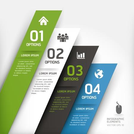 pesta�as: Moderno dise�o de elemento de plantilla ilustraci�n vectorial se puede utilizar para el dise�o del flujo de trabajo, diagrama, opciones num�ricas, incrementar las opciones, dise�o web, infograf�a Vectores