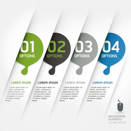 抽象的なデザイン要素のテンプレート ベクトル イラスト ワークフロー レイアウト、図、番号のオプションを使用することができます、オプション