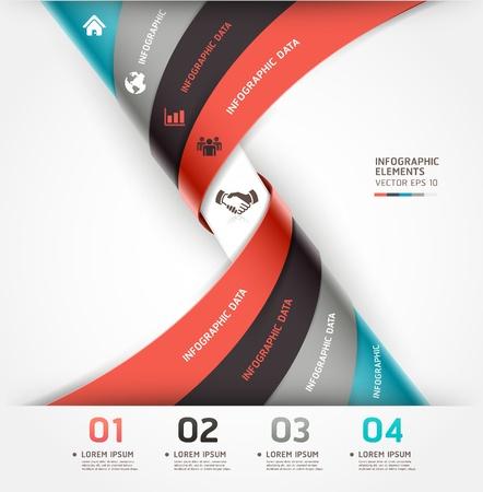 trừu tượng: Infographics trừu tượng hình xoắn ốc lựa chọn biểu ngữ Vector minh họa có thể được sử dụng cho công việc bố trí, sơ đồ, tùy chọn số, thiết kế web