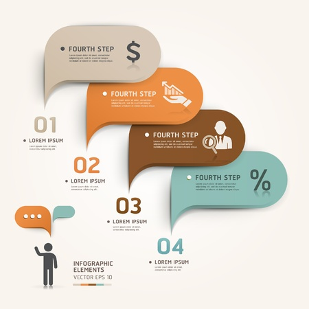 Modern business bubble speech template style  Vector illustration  can be used for workflow layout, diagram, number options, step up options, web design, banner template, infographic Vector