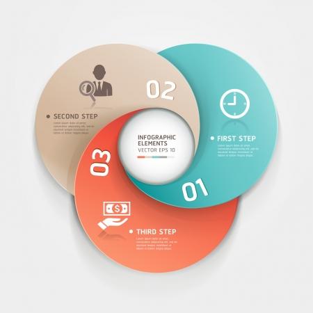 conceito: Modern círculo origami estilo opções bandeira Vector ilustração pode ser usada para layout de fluxo de trabalho, diagrama, opções numéricas, intensificar opções, web design, infográficos Ilustração
