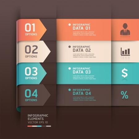 onglet: R�sum� fl�che infographie mod�le illustration vectorielle peut �tre utilis� pour la mise workflow, diagramme, les options num�riques, intensifier les options, banni�re, conception de sites Web