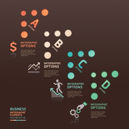 Abstract business dot arrow options  Vector illustration  can be used for workflow layout, diagram, number options, web design, infographics  Vector