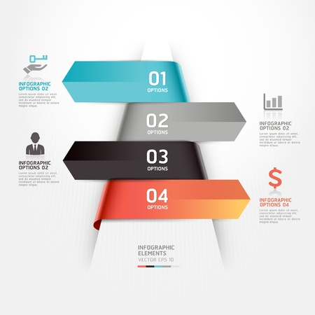Abstract business infographics template illustration  can be used for workflow layout, diagram, number options, step up options, web design, infographics  Vector