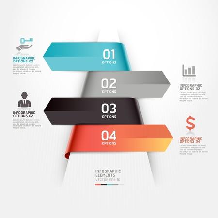 gabarit: R�sum� entreprise infographie illustration de mod�le peut �tre utilis� pour la mise workflow, diagramme, les options num�riques, l'�tape des options, web design, infographie