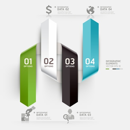 jigsaws: Abstract business infographics template  Vector illustration  can be used for workflow layout, diagram, number options, step up options, web design, infographics  Illustration