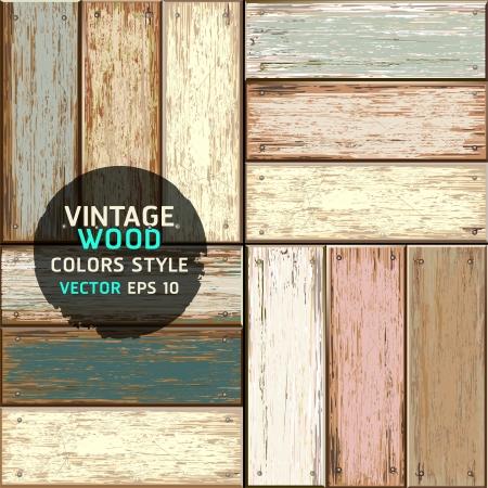 mur grunge: Bois vintage couleur texture de fond illustration Illustration