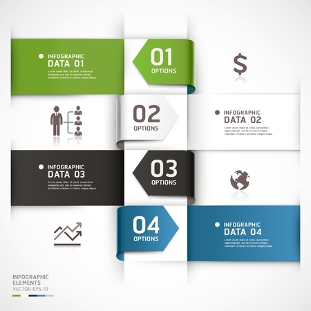 template: Abstract business infographics template  Vector illustration  can be used for workflow layout, diagram, number options, step up options, web design, infographics  Illustration