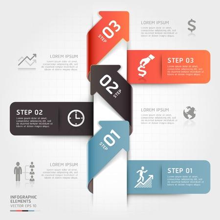 tecnologia: Moderno business freccia origami passo stile delle opzioni immagine pu� essere usata per il layout del flusso di lavoro, diagramma, opzioni di numero, web design, infografica