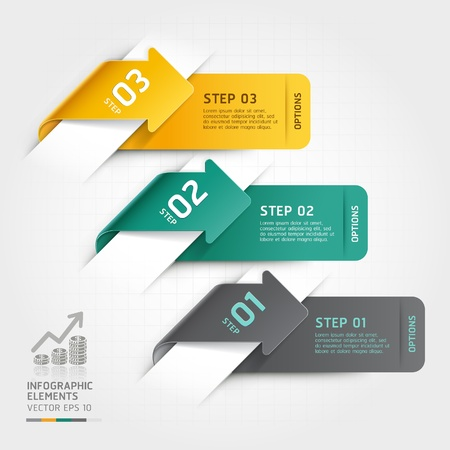 web layout: Abstract arrow infographics template  Vector illustration  can be used for workflow layout, diagram, number options, business step options, banner, web design