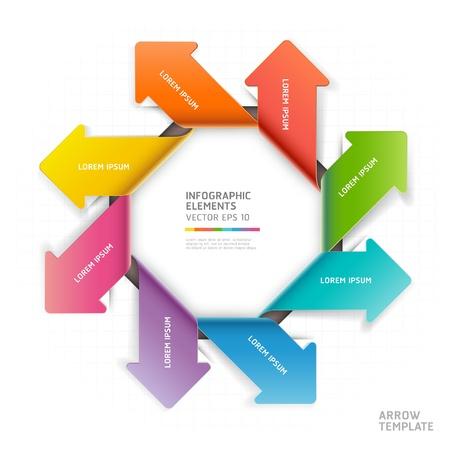 directions: Moderne pijl infographics template Vector illustratie gebruikt kan worden voor workflow layout, diagram, aantal opties, zakelijke stap opties, banner, webdesign