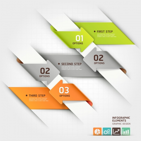 arrowheads: Modern arrow infographics template  Vector illustration  can be used for workflow layout, diagram, number options, business step options, banner, web design