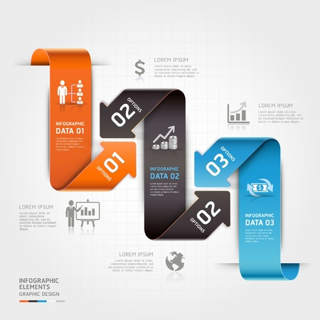 Modern business arrow infographics template  Vector illustration  can be used for workflow layout, diagram, number options, business step options, banner, web design Vector