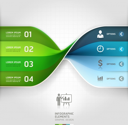 Modern business spiral infographics options banner  Vector illustration  can be used for workflow layout, diagram, number options, web design