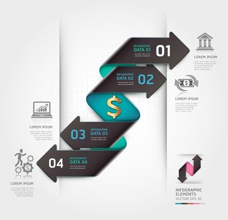 industrial machine: Abstract finance arrow infographics template  Vector illustration  can be used for workflow layout, diagram, number options, business step options, banner, web design