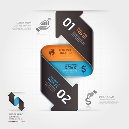 arrowheads: Abstract business arrow infographics template  Vector illustration  can be used for workflow layout, diagram, number options, business step options, banner, web design Illustration