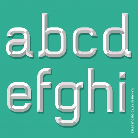 Alphabet modern style  Vector illustration  Vector