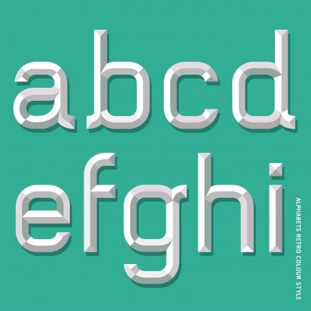 Alphabet modern style  Vector illustration