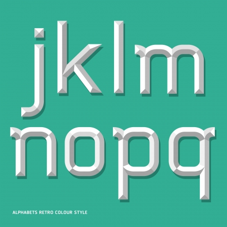 Alphabet modern colour style  Vector illustration Stock Vector - 20230340