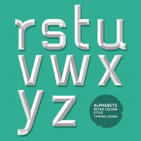 Alphabet modern style  Vector illustration Stock Vector - 20230091