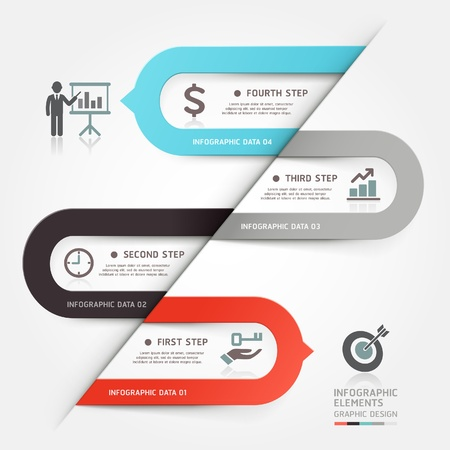 web design banner: Modern business bubble speech template style  Vector illustration  can be used for workflow layout, diagram, number options, step up options, web design, banner template, infographic  Illustration