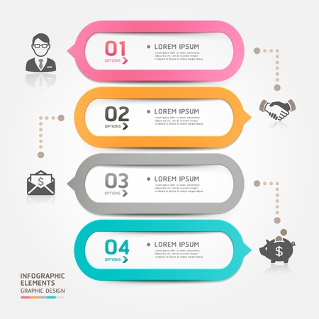 Modern business bubble speech template style  Vector illustration  can be used for workflow layout, diagram, number options, step up options, web design, banner template, infographic  Ilustração