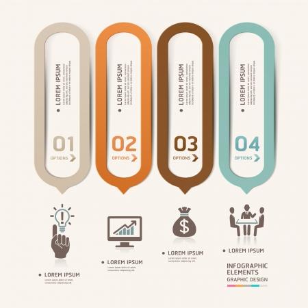 diagrama: Resumen de negocios bocadillo plantilla estilo de ilustraci�n vectorial se puede utilizar para el dise�o del flujo de trabajo, diagrama, opciones num�ricas, incrementar las opciones, dise�o web, plantilla de la bandera, infograf�a Vectores