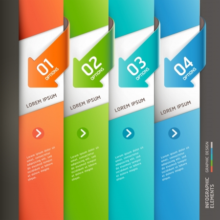 Modern arrow infographics template  Vector illustration  can be used for workflow layout, diagram, number options,  business step options, banner, web design