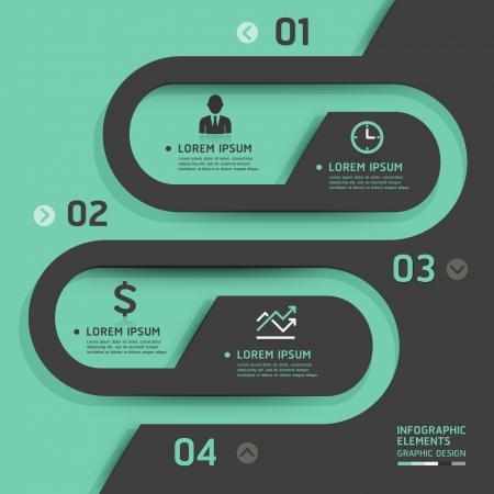 sjabloon: Retro business template stijl illustratie gebruikt kan worden voor workflow layout, diagram, het aantal opties, opvoeren opties, webdesign, banner sjabloon, infographic