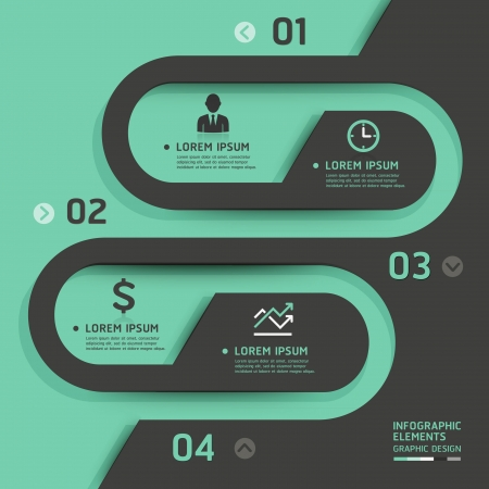 web design template: Retro business template style illustration  can be used for workflow layout, diagram, number options, step up options, web design, banner template, infographic  Illustration