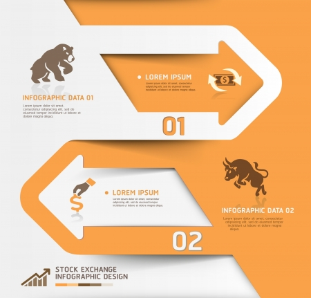 Abstract business stock exchange template  illustration  can be used for workflow layout, diagram, number options, step up options, web design, banner template, infographic  Vector