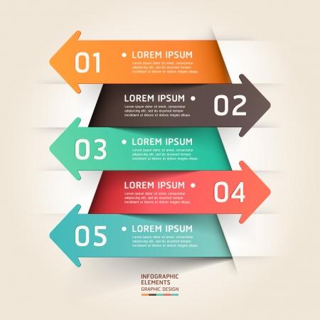 現代ペーパー カット矢印の背景。イラスト。ワークフローのレイアウト、図、番号のオプション、ビジネス ステップ オプション、バナー、web デザ