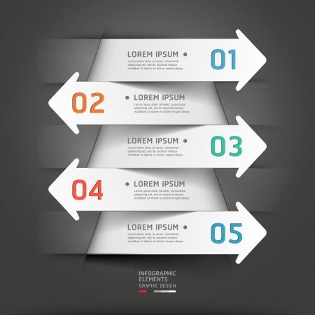 paper cut: Moderne papier te snijden pijl achtergrond. illustratie. kan gebruikt worden voor workflow layout, diagram, het aantal opties, zakelijke stap opties, banner, web design, infographics.