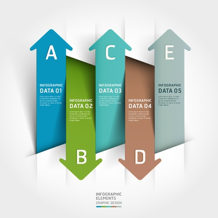 Abstract paper cut arrow background. illustration. can be used for workflow layout, diagram, number options, business step options, banner, web design, infographics Vector