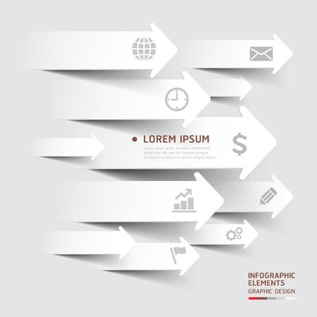抽象的な紙カット矢印の背景。イラスト。ワークフローのレイアウト、図、番号のオプション、ビジネス ステップ オプション、バナー、web デザイ