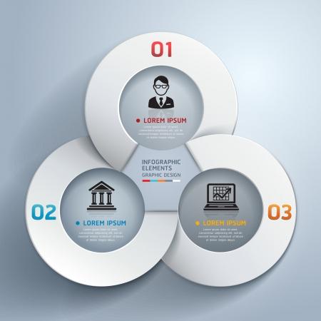 entreprise: Abstract business cercle origami options de style bannière. illustration. peut être utilisé pour la mise workflow, diagramme, les options numériques, l'étape des options, web design, infographie. Illustration