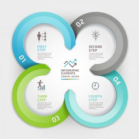grafiken: Moderne Business-Kreis Origami-Stil-Optionen Banner. Abbildung. kann für die Workflow-Layout, Diagramm, Anzahl Optionen verwendet werden, verstärkt Möglichkeiten, Web-Design, Infografiken. Illustration
